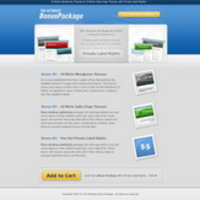 Product picture 20 High Quality Sales Page Themes
