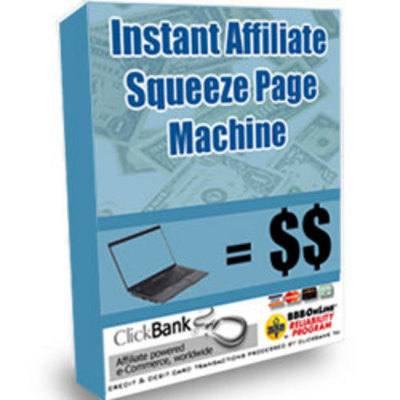 Product picture Instant Affiliate Squeeze Page Machine